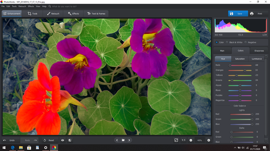 Brincar no interface PhotoWorks